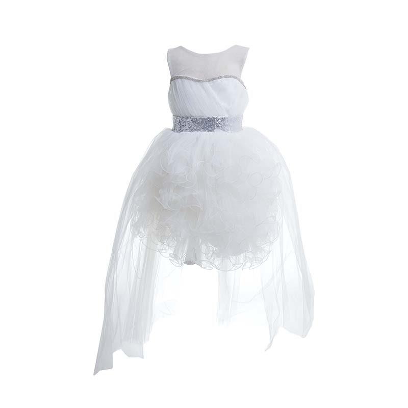 Φόρεμα λευκό με τούλι και ασημένιες παγιέτες – EXTANBEBE 72b958ff8be