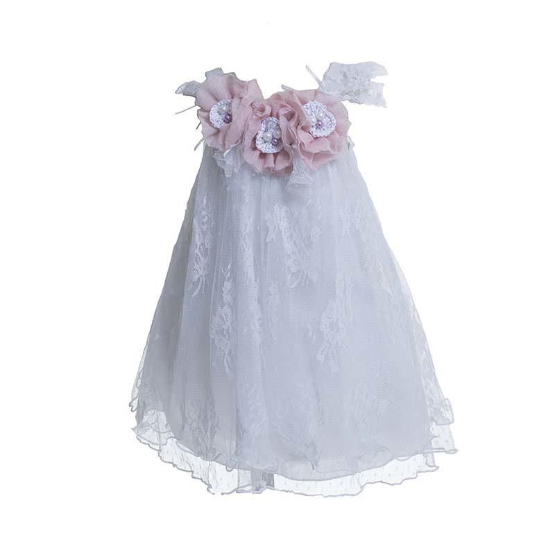 5f6910ae3907 Φόρεμα επίσημο βαπτιστικό με δαντέλα