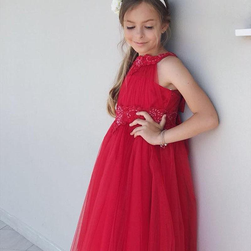 fc34bab5995a Φόρεμα κόκκινο με το πίσω μέρος πιο μακρύ