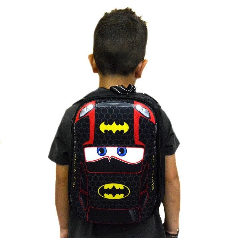 """dc2da31c7d Τσάντα πλάτης νηπιαγωγείου μαύρη """"BATMAN CAR"""" – EXTANBEBE"""