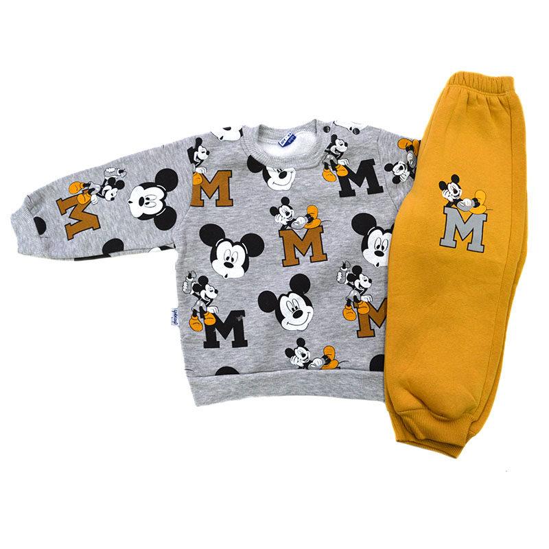 0b2164657b9 Σετ φόρμες γκρι μπλούζα κίτρινο παντελόνι με φιγούρες Mickey