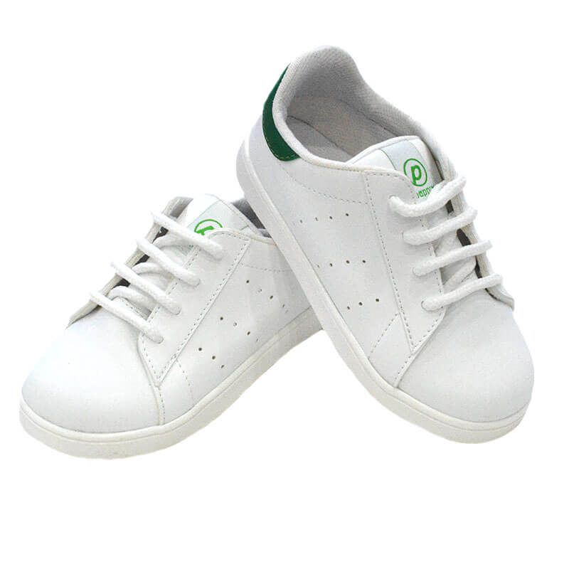 "bddfed50f10 Παπουτσάκια ανατομικά ""σταράκια"" λευκό-πράσινο PAPPIX Xp-679GR ..."
