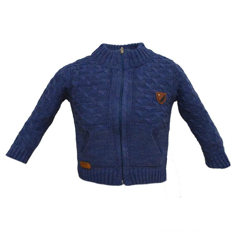 172395136f7 Παιδική πλεκτή ζακέτα μπλε με τσέπες – EXTANBEBE