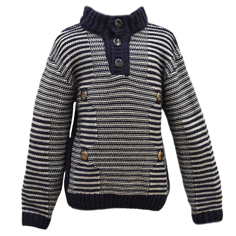 e4ab9e11d74 Παιδικό πλεκτό πουλόβερ λευκό-μπλε ριγέ – EXTANBEBE