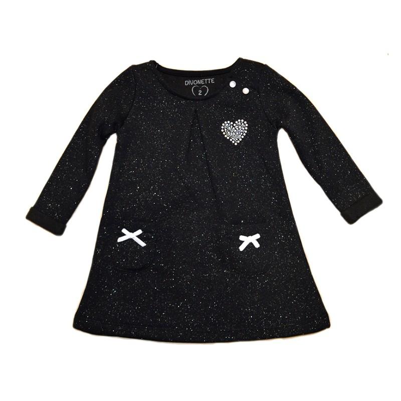 Φόρεμα φούτερ μαύρο με glitter 24c9e3b46a9