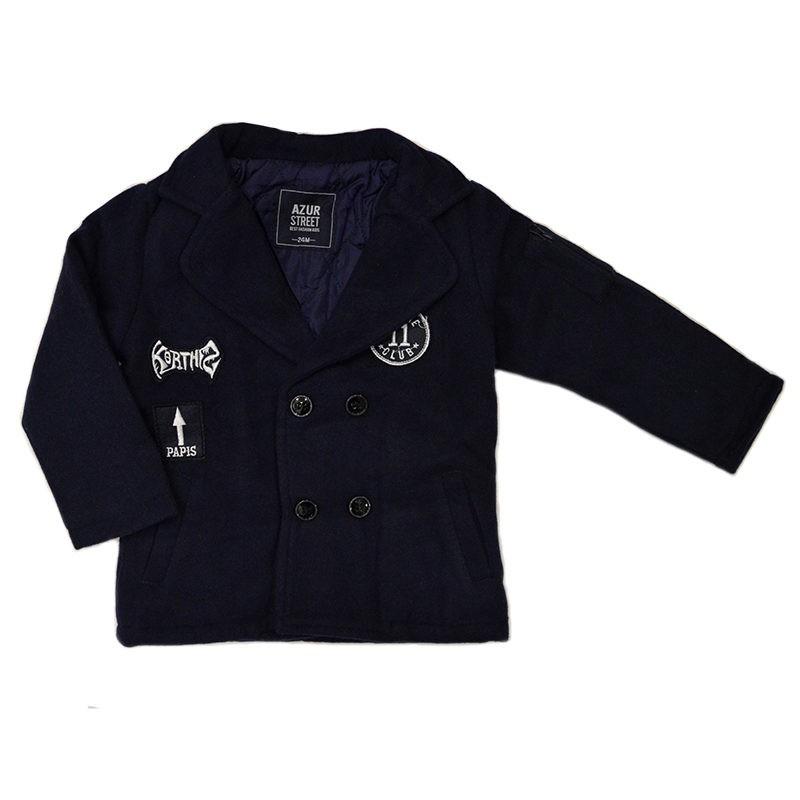 Παλτό σκούρο μπλε με διπλά κουμπιά – EXTANBEBE 75522dd70cc