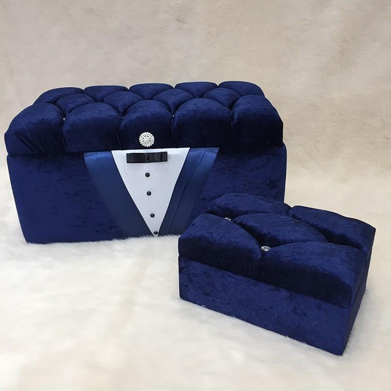 5fe9b000dfc Κουτί βάπτισης πολυτελείας Σμόκιν μπλε – EXTANBEBE