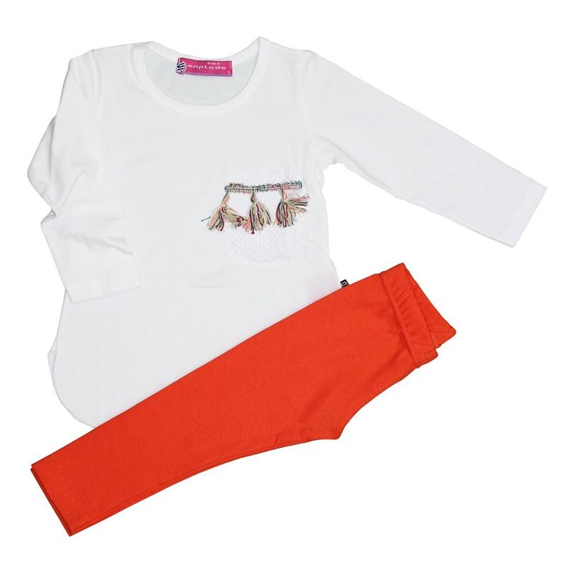 Σετ μακρυμάνικη μπλούζα Boho πορτοκαλί κολάν PROD 13175 fc35932bfe7