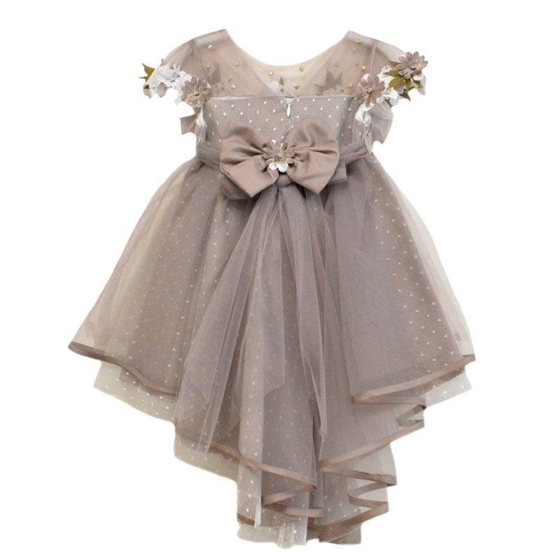 309cd9e35e0a Φόρεμα λιλά με 3D λουλούδια