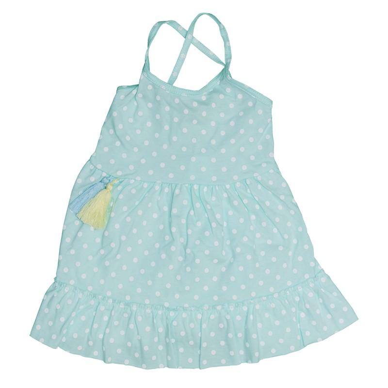 Φόρεμα πουά βεραμάν με βολάν PROD 54048 a77c64b93b1
