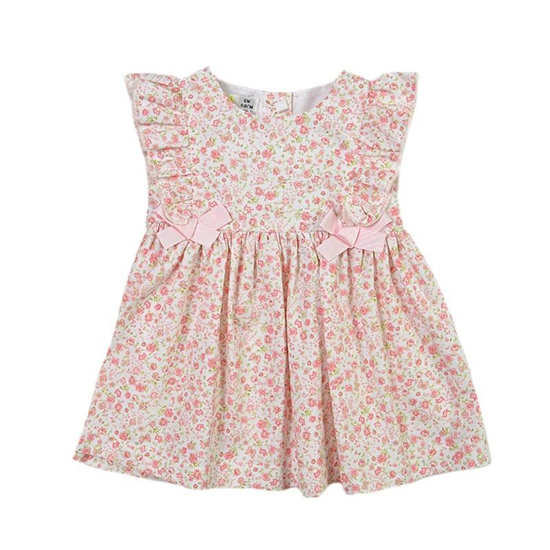 Φόρεμα ροζ vintage φλοράλ BABYBOL ca9c0ca1089