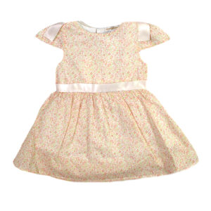d321db8e728 Φόρεμα φλοράλ με σομόν φιόγκους MINTINI BABY MB2523