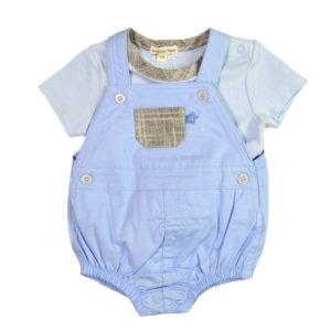 bbacdb2cc5a Σετ σαλοπέτα-φουφούλα γαλάζια και γαλάζια μπλούζα MINTINI BABY MB2739