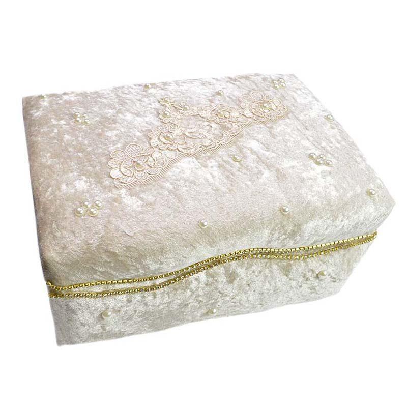 30344626290 Κουτί πολυτελείας Nude με δαντέλα,πέρλες και στρας I – EXTANBEBE