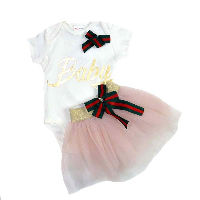 a371b8a9cde Σετ κορμάκι λευκό BABY και φούστα σομόν του-του – EXTANBEBE
