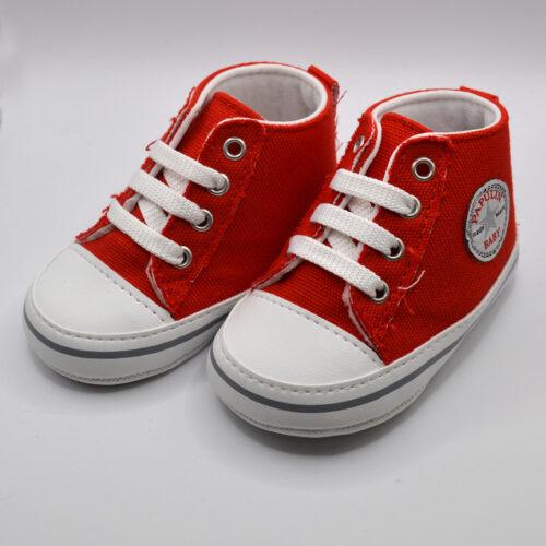 sneakers kokkina mpotakia SHOE082R